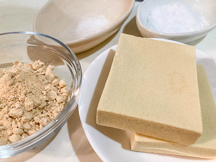 高野豆腐サイコロ材料-2